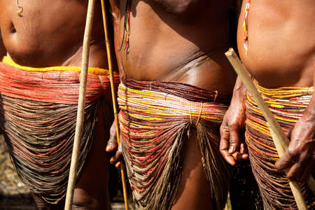 traditional tribal festival of dani people in baliem valley, western papuasia-indonesia