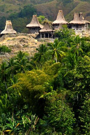traditional hut of inhabitant in sumba island -indonesia Stock Photo