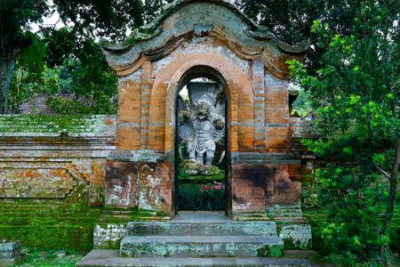 Stone carved statue of garuda in Hindu temple in Bali-Indonesia