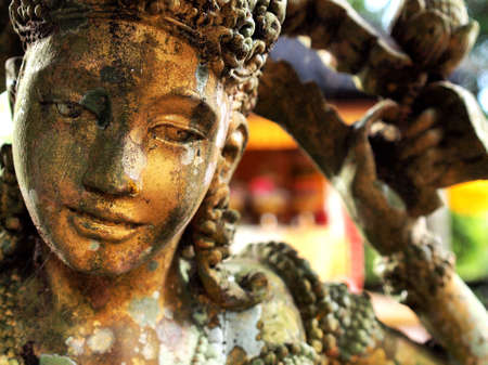Stone carved statue in Hindu temple in Bali-Indonesia