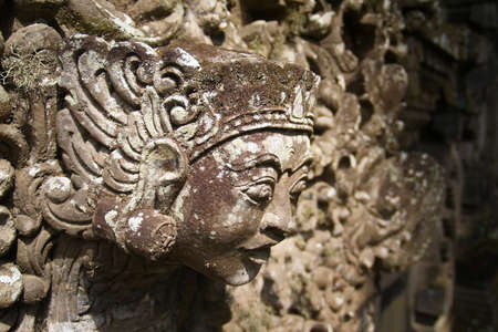 Stone carved statue in Hindu temple in Bali-Indonesia Stock Photo