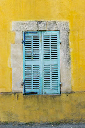 shutter of mediterranean building in the south of france