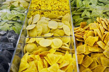 assorted fresh ravioli sold in market