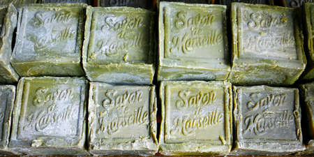 traditional french Marseille's soap-with text Marseille's soap