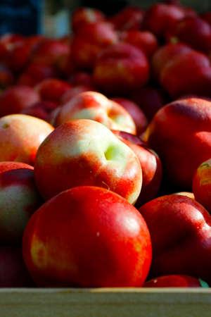 peach sold in market in provence-france Reklamní fotografie