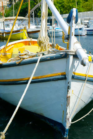 traditional Mediterranean sailing ship boat in the south of france