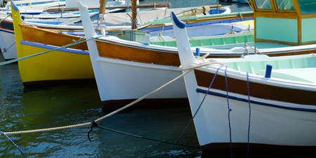 traditional Mediterranean fishermans boat in the south of france Reklamní fotografie