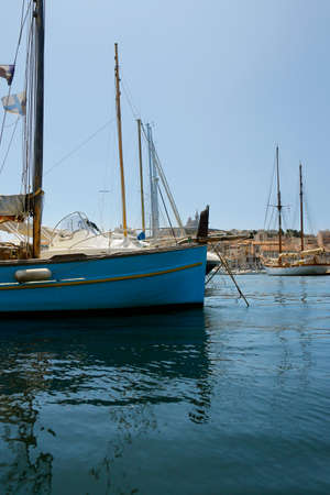 traditional Mediterranean sailing ship in the pier of marseille france