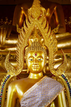 detail of statue of buddha, in buddhist temple in thailand Reklamní fotografie