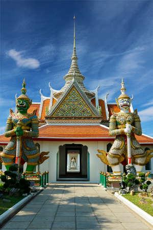 statue of hanuman in temple buddhist -thailand Banco de Imagens