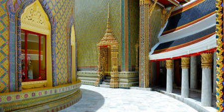 view of the buddhist temple rachabopit in the city of bangkok -thailand