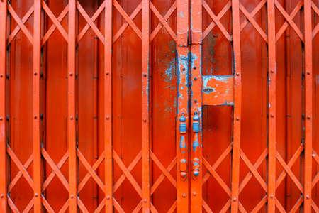 red front door metallic curtain Stock fotó - 157493357