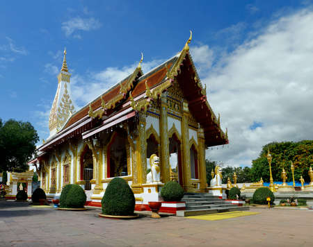 view of the buddhist temple in thailand Sajtókép