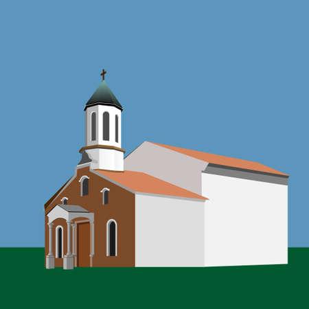 St Sarkis Armenian Apostolic Church, Varna, Bulgaria. Vector illustration EPS10