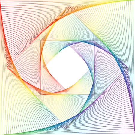 Background from the squares twirled in a spiral. Vector illustration EPS10 Ilustrace
