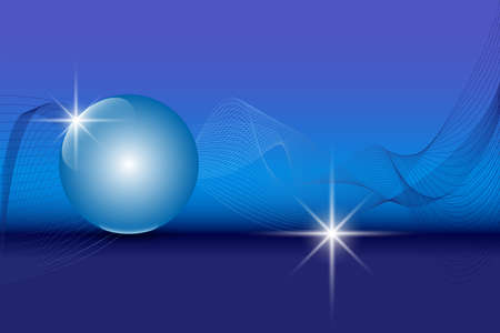 global communication: Blue 3D globe sphere on an abstract technology blue background. Vector illustration EPS10