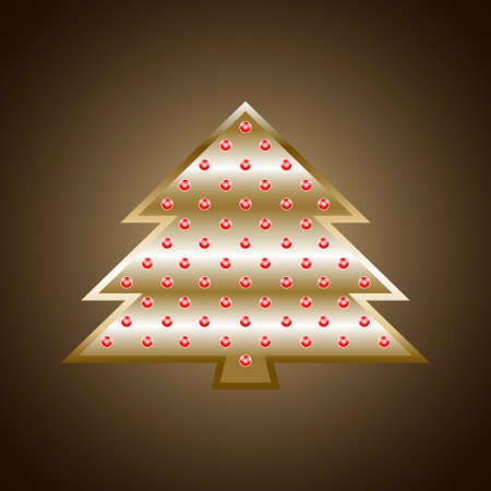 Decorated metal Christmas fir-tree. Vector illustration EPS10 Illustration