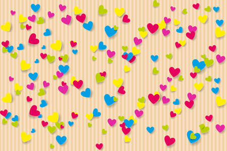Background with multi-colored hearts. Vector illustration EPS10 Vectores