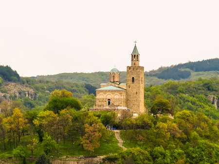 Ascension Cathedral in the Tsarevets Fortress, ancient fortress on hill top. Capital of the Second Bulgarian Kingdom. Veliko Tarnovo, Bulgaria