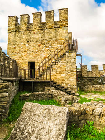 Tsarevets Fortress in the medieval capital of the Second Bulgarian Kingdom, Veliko Tarnovo, Bulgaria 版權商用圖片