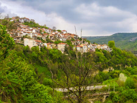 View of the Old Town Veliko Tarnovo, Bulgaria Stock Photo