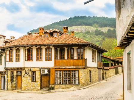 Tradition bulgarian house in the Old Town, Veliko Tarnovo, Bulgaria Stock Photo