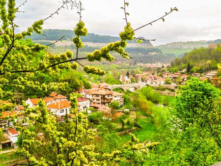 View of the Old Town Veliko Tarnovo, Bulgaria Stock Photo - 127199145