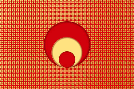 Golden background for Chinese New Year Greeting Card. Vector