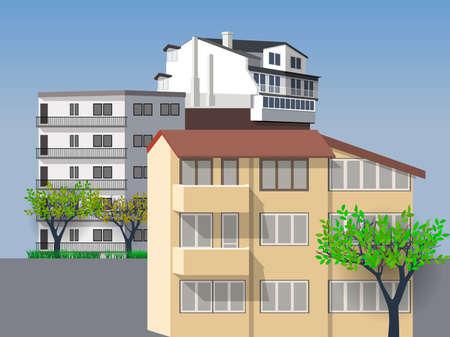 Urban landscape or City landscape. Vector illustration EPS10