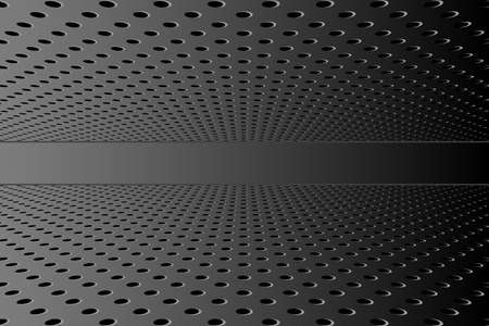 Vector technology background. Black perforated background surface 3d effect. Foto de archivo - 150127248