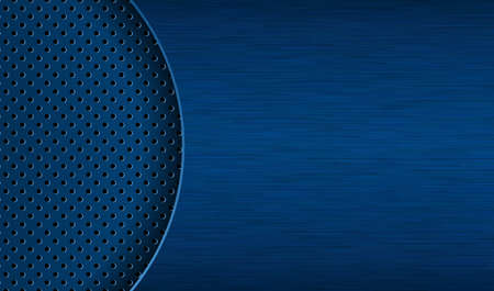 Dark blue background with different textures. Perforated and rubbed surfaces EPS10 矢量图像