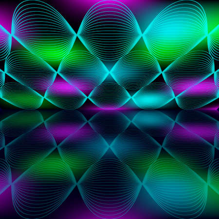 Multicolored space with reflection. Abstract color background. EPS10