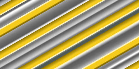 Abstract striped background. Gray and yellow laminate surface. Striped texture. Vector illustration EPS10
