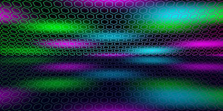 Multicolored space with reflection. Abstract color background. EPS10 免版税图像 - 151260499