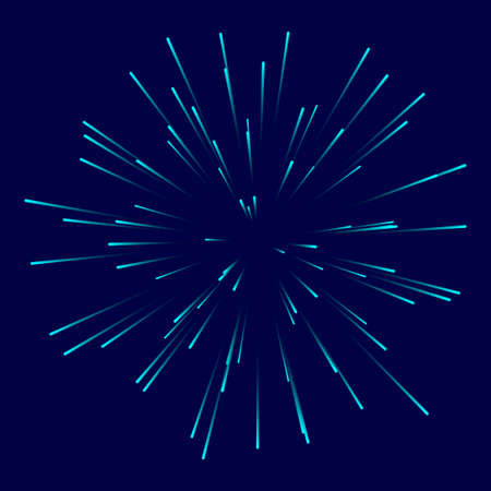 Shining rays on dark background. Holiday firework effect. Vector illustration EPS10