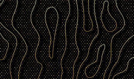 Black background with golden glitter. Vector EPS10 免版税图像 - 151655264