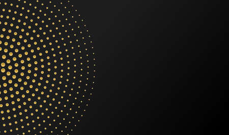 Halftone background. Golden halftone dots in circle forms. Vector EPS10 免版税图像 - 151789275