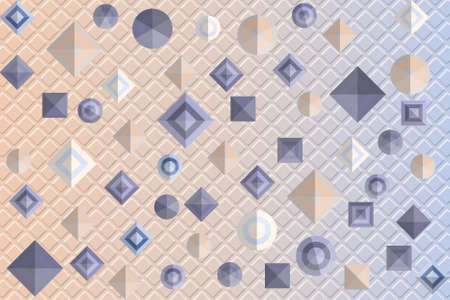 Pattern with geometric figures on embossed background. Vector illustration EPS10 矢量图像