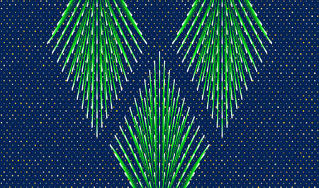Background for New Year and Christmas. Stylized Christmas trees on a blue background. Vector EPS10 免版税图像 - 152128136