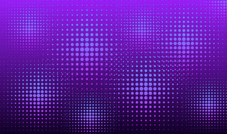 Neon halftone background. Halftone dots in circle forms. EPS10