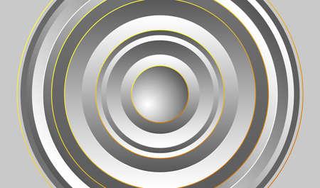 Multilayered silver round frame. Vector illustration 矢量图像