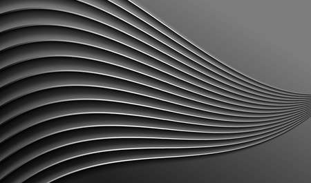 Abstract relief background. Black surface and wavy pattern. Vector EPS10