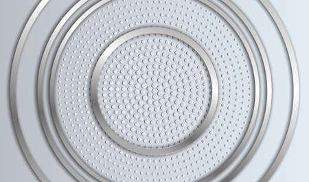 Multilayered silver round frame. Vector illustration EPS10