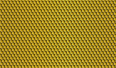 Golden honeycomb background. Hexagon grid. Vector EPS10
