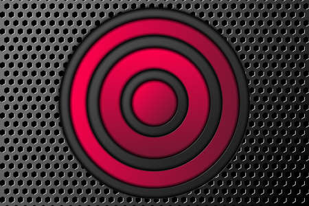 Technology abstract background. Color buttons on the relief metal backdrop. Vector 矢量图像
