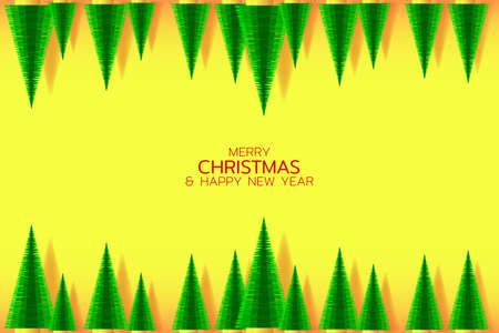 Wnter holiday illustration. Pattern with christmas trees. EPS10