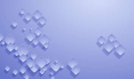 Geometric layered background. Square shapes on the blue background. Vector