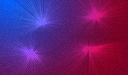 Neon background with flashes of light. Vector EPS10
