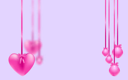 Pink hearts garland. Vector illustration EPS10 for Valentine's day, Wedding, Mother's Day Illusztráció