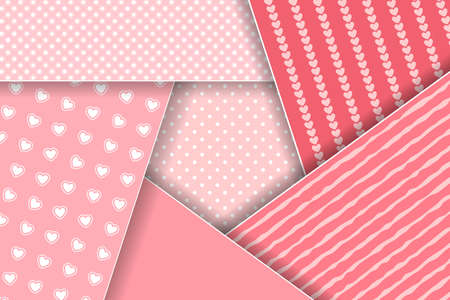 Pink layered background for Valentines, Wedding, Mother Day Greeting Card